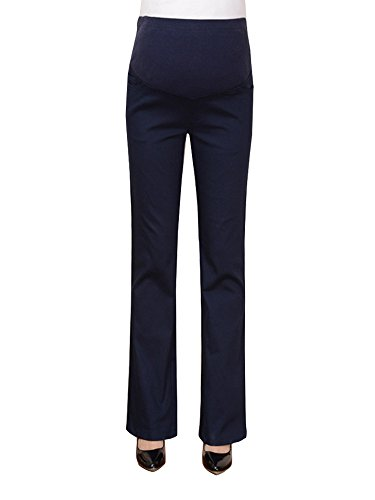 OCHENTA Maternity Women's Over The Belly Bootcut Career Dress Pants For Work