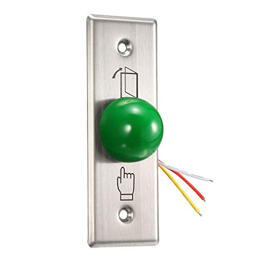 ZCHXD Door Release Button Push to Exit Resettable NO/NC/COM Switch for Access Control Panel 115mmx40mm 12V 3A Stainless Steel - 12x12 Access-panel