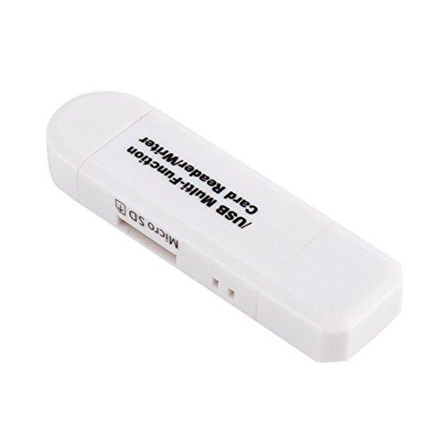 Kartenleser Adapter Hochgeschwindigkeitstelefon OTG zu B 2.0 Laptops Multifunktionales Dual Head Universal Zubehör Praktisch(Schwarz)