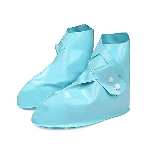 cinnamou Unisex-Regen-Schuh-Überschuhe, Wiederverwendbare Wasserdichte Reise-Schnee-Beleg-Überschuhe,Überschuhe mit verstärkter Antirutsch-Sohle