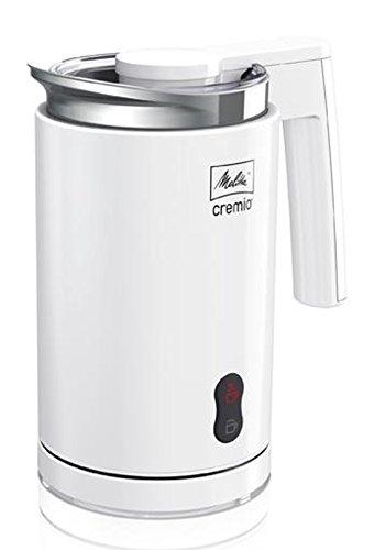 Melitta 1005-01 Mousseur à Lait - Pour Lait Chaud ou Froid - 3 Emboutsinclus - Latte Macchiato/Cappuccino/Lait Chaud - CREMIO I Blanc
