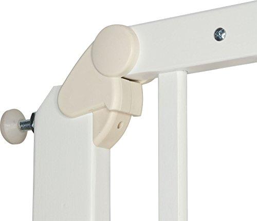 IB-Style – Treppengitter / Türgitter AUDIN weiss   71 – 108 cm & 79 – 126 cm   Klemmgitter Treppengitter Türgitter   2 Varianten wählbar   zum Verschrauben  öffnet wie ein Türchen   Verstellbar 71 – 108 cm - 5
