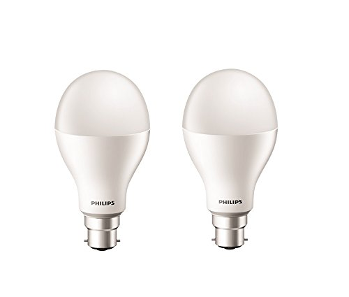 Philips Stellar Bright 20-Watt Round LED Bulb (Pack of 2, Cool Day Light)