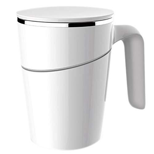 whbage Reisebecher Becher Reise Tasse 470ml Magic Sucker Nicht gießen Tasse Anti-Rutsch Edelstahl bedeckt Kaffeebecher tragen Tasse Geschenk-Becher