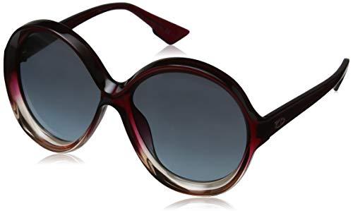 Dior Damen DIORBIANCA I7 0T5 Sonnenbrille, Rot (Burgundy Pink Grey), 58