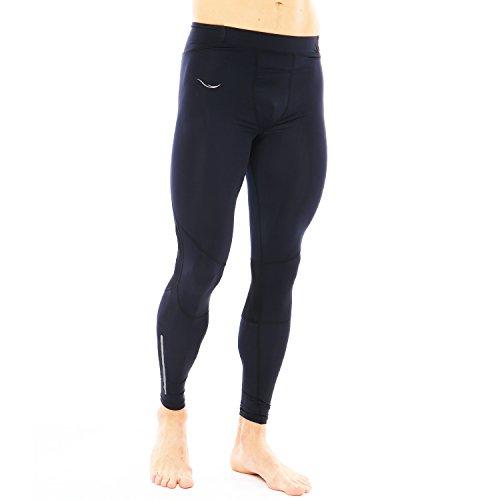 Zareus Herren Kompressionshose, Sport-Leggings, Dry Fit Workout Tight, Herren, schwarz, Large -