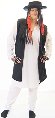 PLUS SIZE Boy George Costume for Ladies or Gents up to 4XL