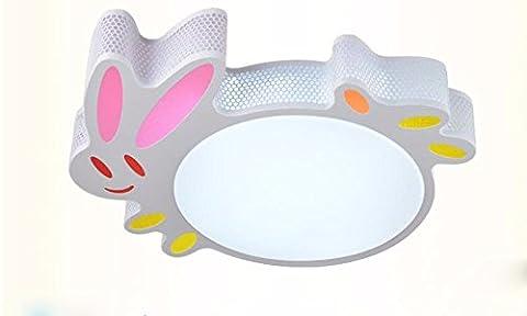 LoveScc Chambre moderne et minimaliste créative Accueil Lampes de plafond le Lapin Cartoon Enfants feux 48Wsub-Paragraph 56 Interrupteur Personnalité*48*9cm