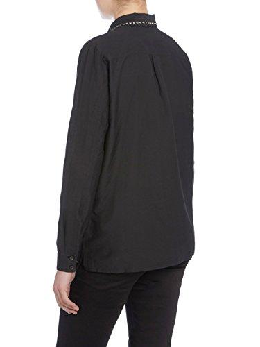 Diesel S-Oli Shirt Damen Bluse Seide Schwarz Schwarz