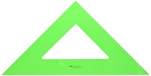 Faber-Castell 566 – Escuadra de 42 cm, color verde