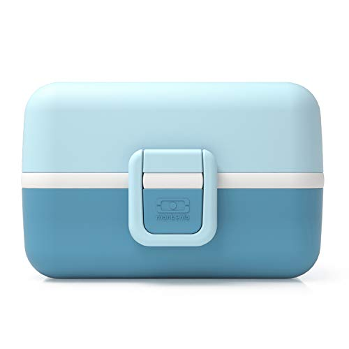 monbento Tresor Lunchbox, Kunststoff, Iceberg Blau, 16 x 9,2 x 10,4 cm