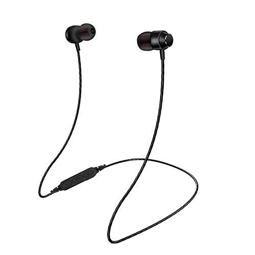 bescita Bluetooth Sport in-Ear Kopfhörer, V4.2 Schweißresistent Stereo magnetischer Sport Ohrhörer mit 10 Meter Reichweite, Eingebautes Mikrofon für iPhone, Huawei und Samsung (Schwarz) -