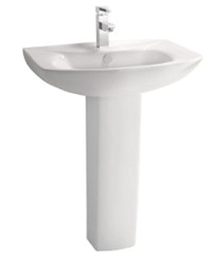 Cera Calista 1066 Pedastal Basin Calista (White , Two Pieces)