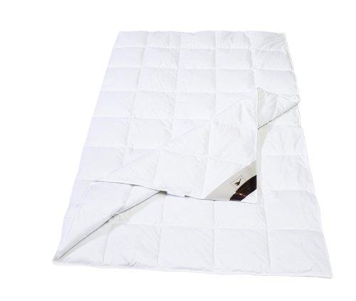 Häussling 410380501505 Sommerdaunendecke Royal 8 x 10-Karo, 135 x 200 cm, weiß