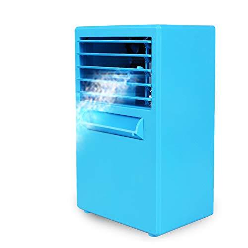 Climatiseur de refroidissement Mini Portable 3 en 1 purificateur mobile muet Humidificateur d'air personnel Ventilateur de bureau,Blue