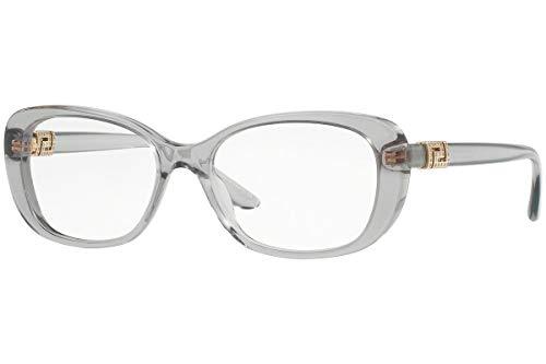 Versace VE3234B Brillen 53-16-140 Grau Kristall Mit Demonstrationsgläsern 593 VE 3234B
