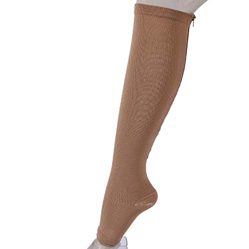Plain Color Compression Socks Women Best Medical Nursing Travel Flight Socks Running Fitness Stocking Skin L/XL - Pirate Low Cut
