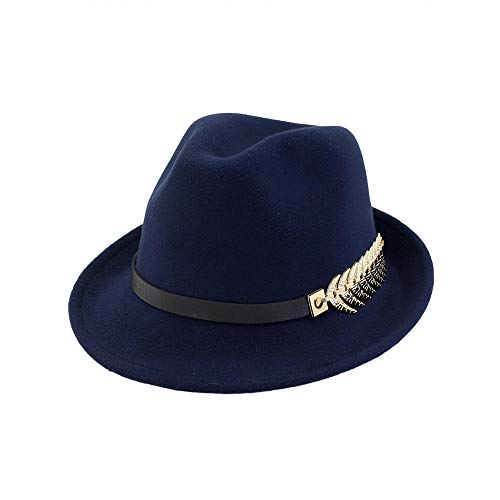 youjiu New Hut, männlich und weiblich, British Jazz Hut Mode Flut Jugend @ Dark Blue_M - Mafia Männliche Kostüm