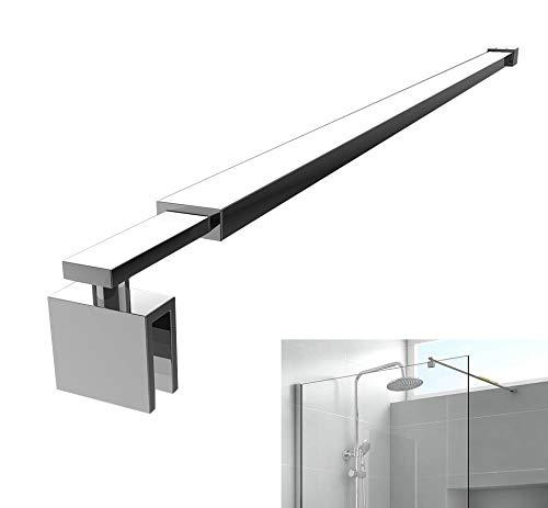 Meykoe Haltestange für Duschwand (70-120cm) Edelstahl verchromt, Stabilisator Wandhalterung für Duschabtrennung Duschtrennwand mit Glasstärke 6-8mm