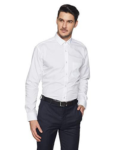 Amazon Brand - Symbol Men's Solid Regular Fit Formal Shirt (SS18-SMFS-0106!_White!_42)