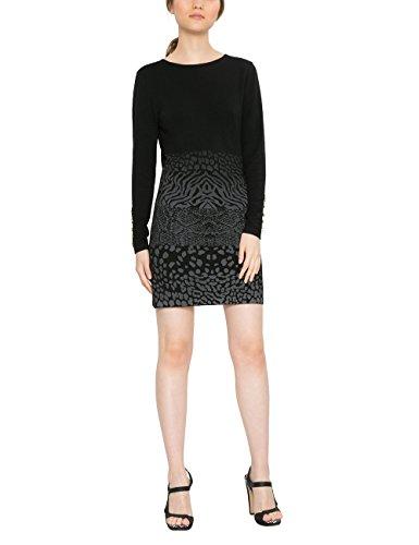 Desigual Damen Kleid VEST_GRANADA 17WWVF08, Schwarz (Negro 2000), Gr. L (Herstellergröße:XL)