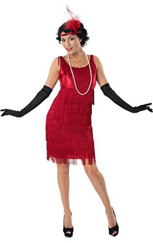 20er Jahre Charleston Damen Kostüm Rot Large