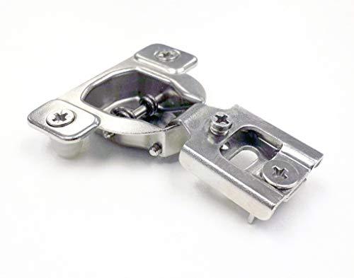 40Pack Berta integriertem Compact Bauunternehmer Grade Scharnier 4-Richtungen-2Cam 1/5,1cm OL Anpassung, Overlay Verdeckte Schranktür Scharnier-105Grad
