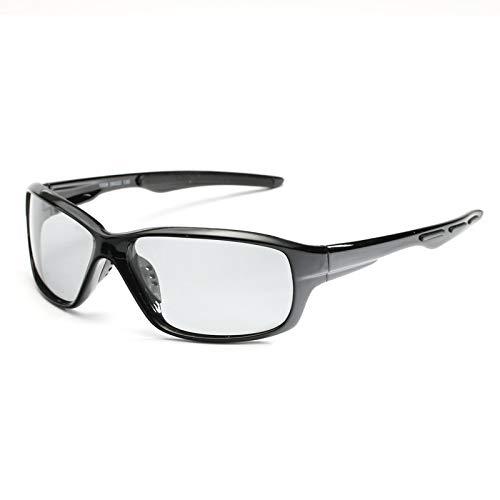 HD Polarisierte Photochrome Sonnenbrille-Männer, Die Chamäleon-Brillen-männliche Tag- Und Nachtsicht-Fahrer-Schutzbrille Lentes Sol Hombre Fahren (Lenses Color : Black)