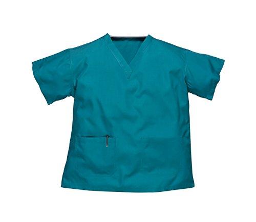Reversibile Ospedale Scrub tunica da lavoro-Unisex Medical del Medico (piccola, Ospedale Verde)