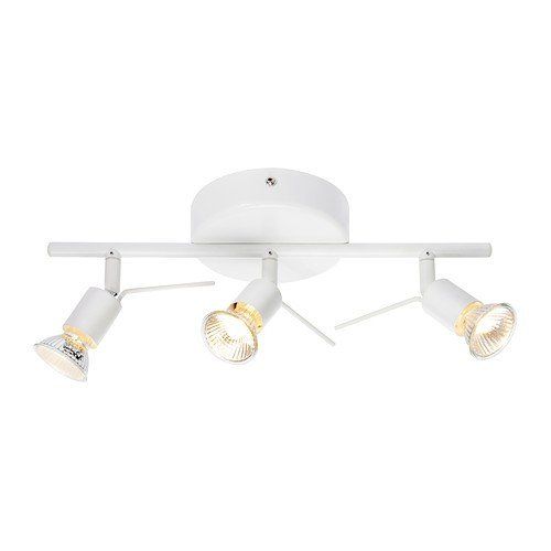 Ikea Binario da Soffitto, Bianco, metallo;rivestimento a...