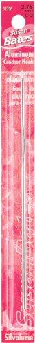 Susan Bates 5-1/2Silvalume Aluminium Häkelnadel, 6mm, hellgelb -