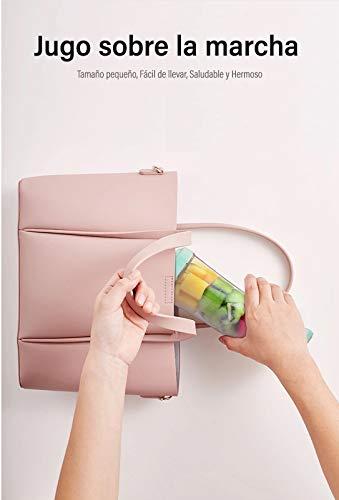Lahuko Licuadora Portátil USB Recargable,Batidora de Vaso Zumos 380ml Portable blender sin BPA,Mini Exprimidor Electrico para Fruta Verdura Smoothies Milkshake y Comida Bebé