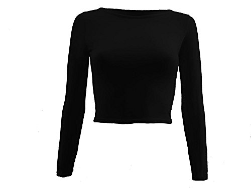 lush-clothing-83a-womens-round-neck-long-sleeve-crop-cropped-stretch-top-t-shirt-black-s-muk-8-10