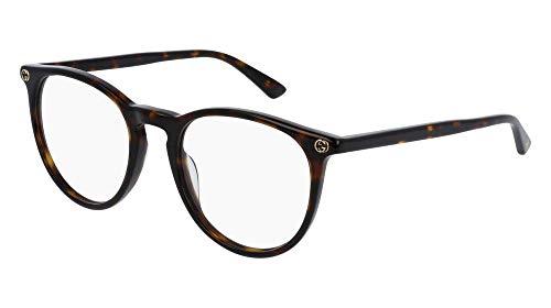 Gucci - GG0027O, Rund, Acetat, Damenbrillen, HAVANA(002 A), 50/20/140