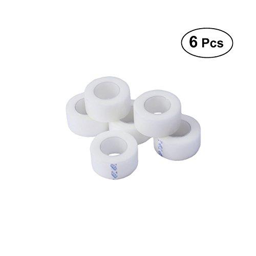 SUPVOX Tape für druckempfindliche Haut Durchsichtiges chirurgisches Tape PE mikroporöses Erste-Hilfe-Band 6 Rollen -
