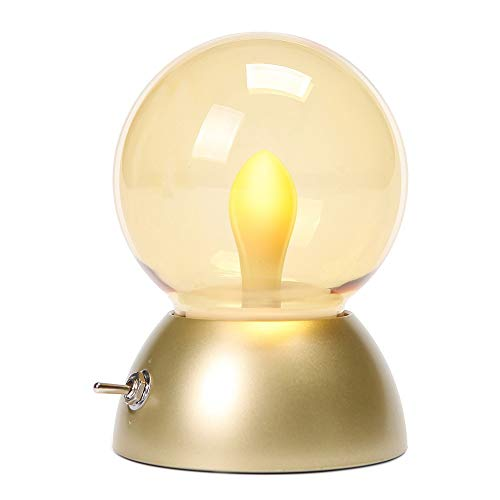 Accueil LED Coloré Rétro Ampoule Lampe Usb Recharge Bébé Table De Chevet Lampe Chambre Protection Des Yeux Night Light (Couleur : Or, edition : Coloré)