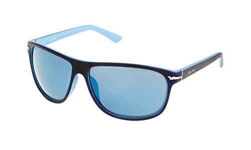 Police Unisex-Erwachsene S195864N05B Sonnenbrille, Blau (Azul), 64