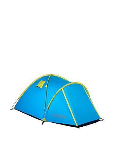 COLUMBUS Spey Tente de Camping pour 3 Personnes Mixte Adulte, Bleu/Vert Fluo, Unique