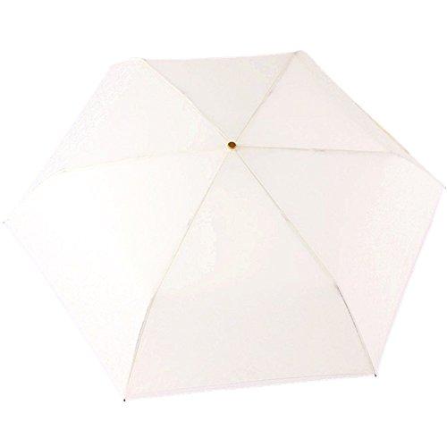 Paraguas ligero xagoo® estilo princesa telescópico clásica con mango curvado y marco de acero inoxidable Varios colores blanco