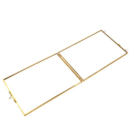 Glas Bilderrahmen Metall Rahmen Fotorahmen Dekorahmen Valentinstag Geschenke - one size, 5 x 5 ()