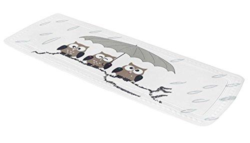 Kleine Wolke 5370271001 Wanneneinlage Eule, 36 x 92 cm, taupe