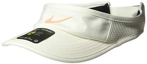 Nike Damen Women's Arobill Featherlite Visor Adjustable Mütze, Sail/Orange Pulse, Misc