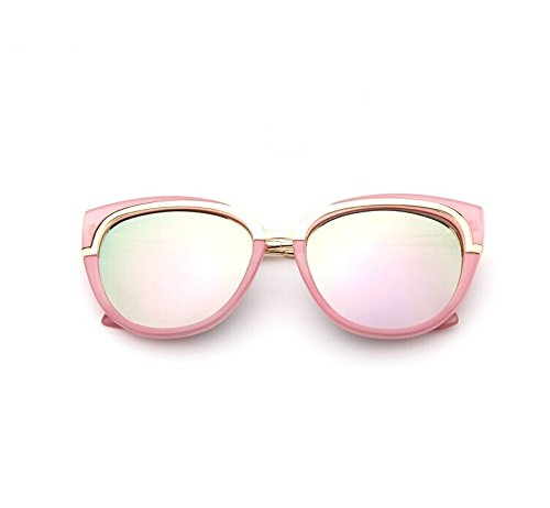 YHW-GLASSES-0813 Gläser Cat Eye Sonnenbrillen Metallrahmen Fashion Style für Unisex YHWCUICAN (Lens Colour&Frame Colour : Powder Box Powder Mercury+Powder)