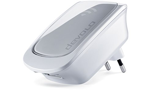 Devolo WiFi Repeater (300 Mbit/s, WLAN Verstärker, 1x LAN Port, WPS, Wi Fi Signal verstärken, Reichweite erhöhen, Empfang verbessern, WiFi Extender, WLAN Booster) weiß