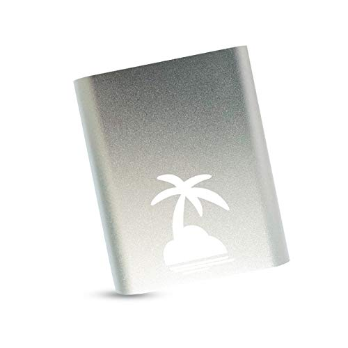 Dubai Palm Powerbank 10400 mAh, hohe Kapazität, externer Akku, extra kompakt, 2A Output, Ladegerät für Handy & Smartphone: Huawai, Samsung, Motorola, iPhone, iPad, Tablet in silber