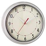 Wanduhr Uhr Küchenuhr Retro Vintage Design Metall Glas Metalluhr creme rund shabby Quarzuhr Landhaus 50er 50s 60er deko antik