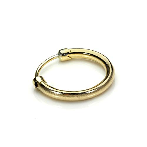 9 Karat (375) Gelbgold 11mm Sleeper Hoop Herren Ohrring