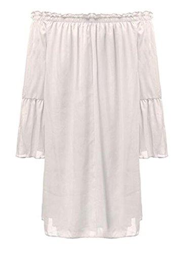 Hamaliel - Robe - Trapèze - Femme Blanc