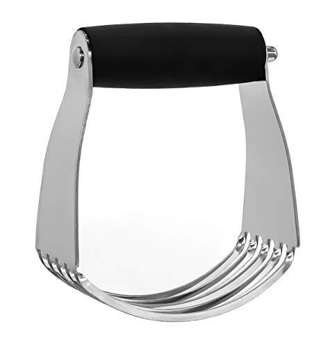 Granny's Kitchen Hand Teigmischer aus Edelstahl mit ergonomischem Griff - Teigkneter fürs Backen & Kochen - Gebäck Teig Kneter Mixer mit 5 Klingen -
