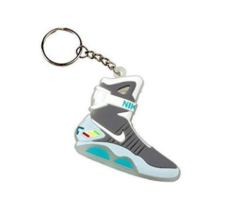 Air Mag Back To The Future Sneaker Chicago Bulls AJ 23 Keychain Keyring by Rob's Tees
